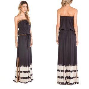 Gypsy 05 Cairo Tube Maxi Dress in Black Silk